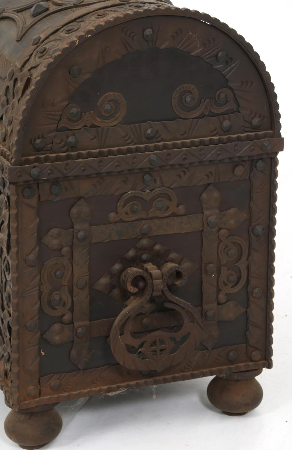 Wrought Iron & Wooden Wedding Chest
