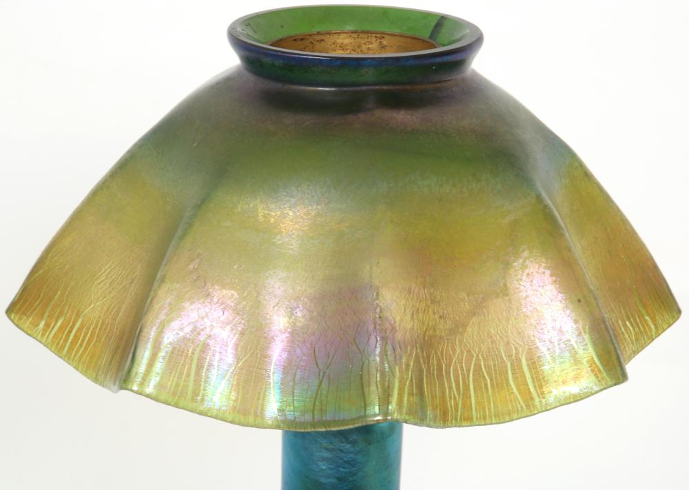 Tiffany Studios Favrile Glass Candle Lamp