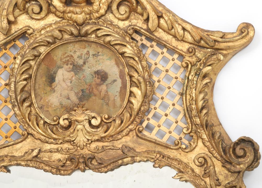 French Louis XV Style Giltwood Mirror