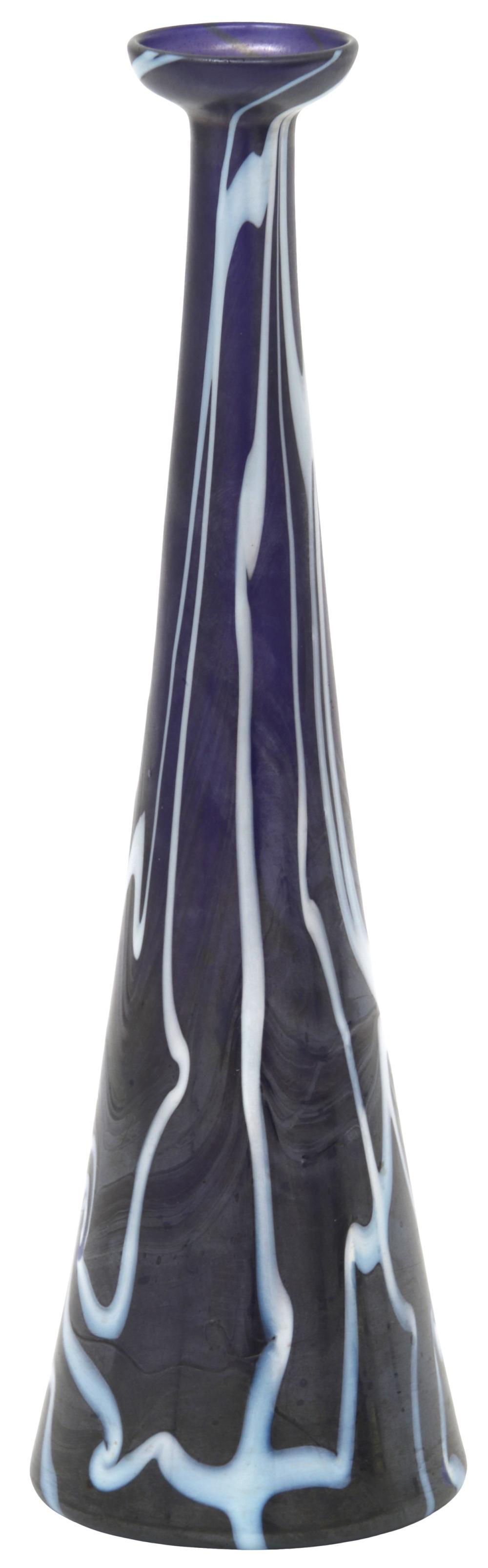 Durand Decorated Iridescent Glass Vase