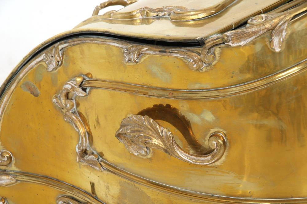 French Brass Coal Scuttle
