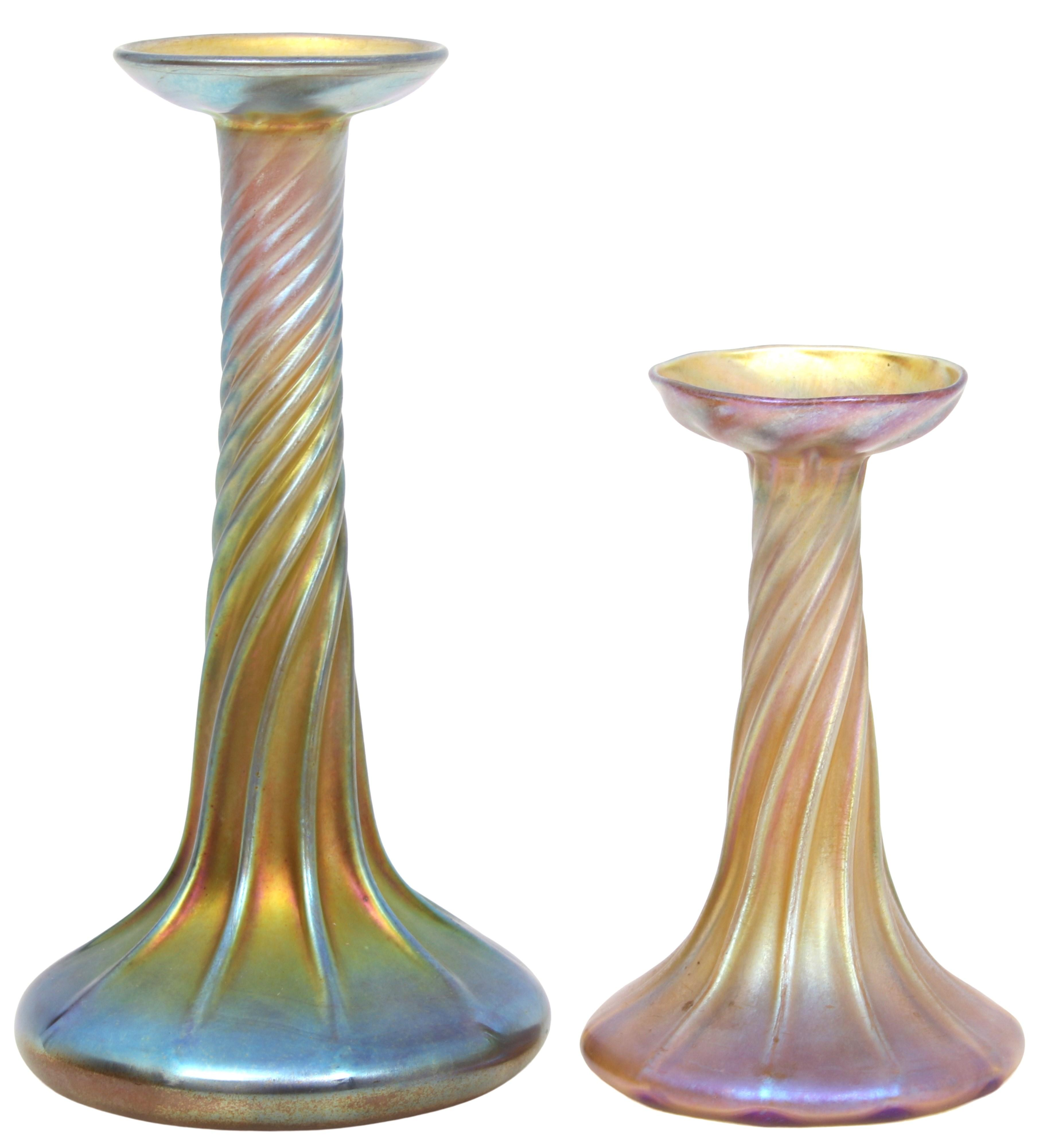 Tiffany Studios Candle Lamp Bases