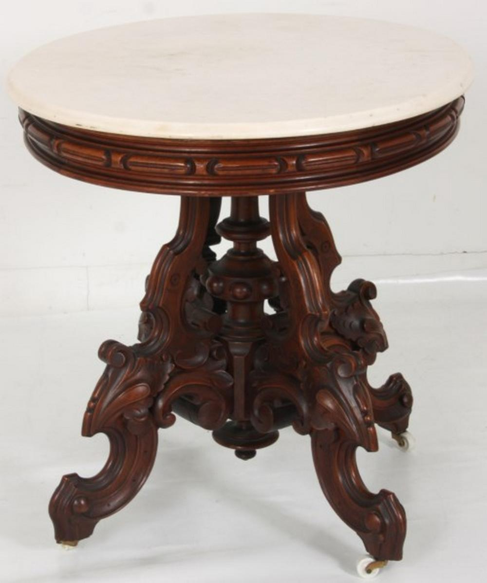Thomas Brooks Marble Top Center Table