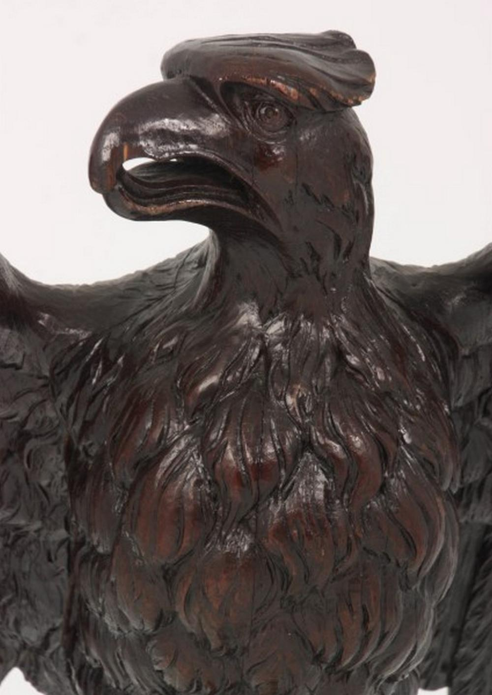 American Carved Oak Eagle Podium