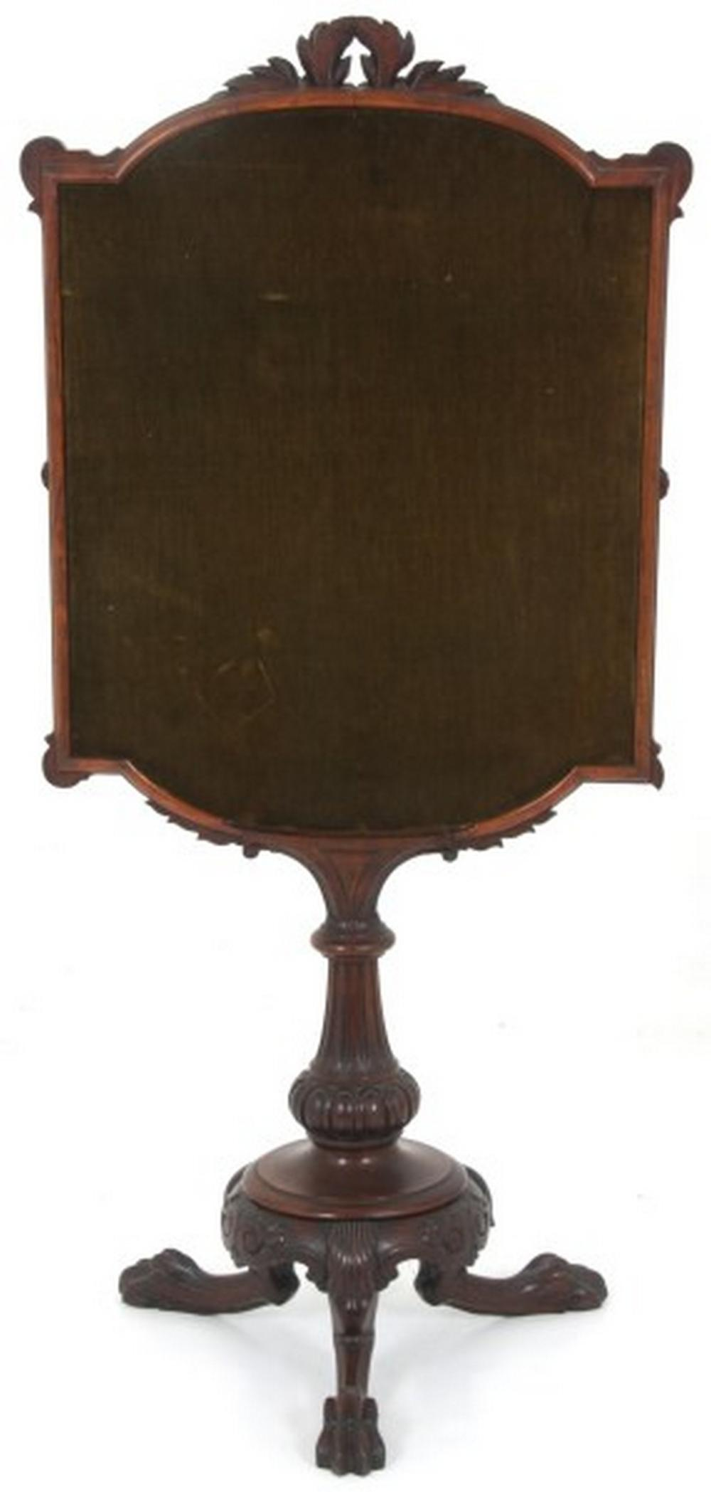 American Carved Rosewood Fireplace Screen