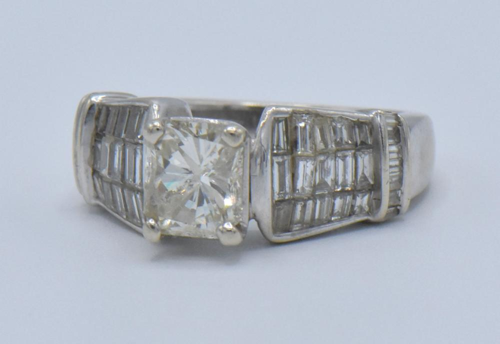 14K White Gold & 2.01 ct. Radiant Cut Diamond Ring