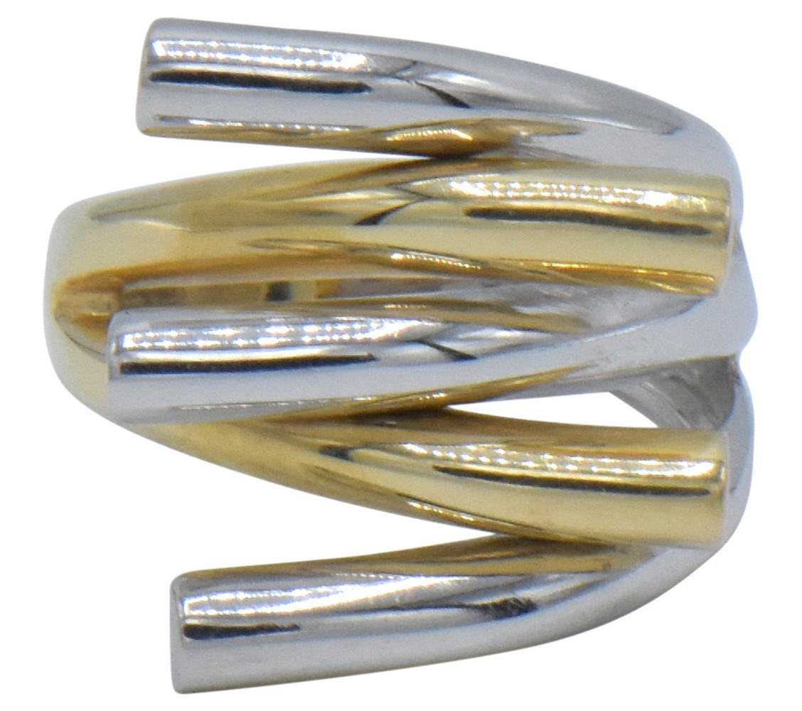 14K Yellow & White Gold Ring