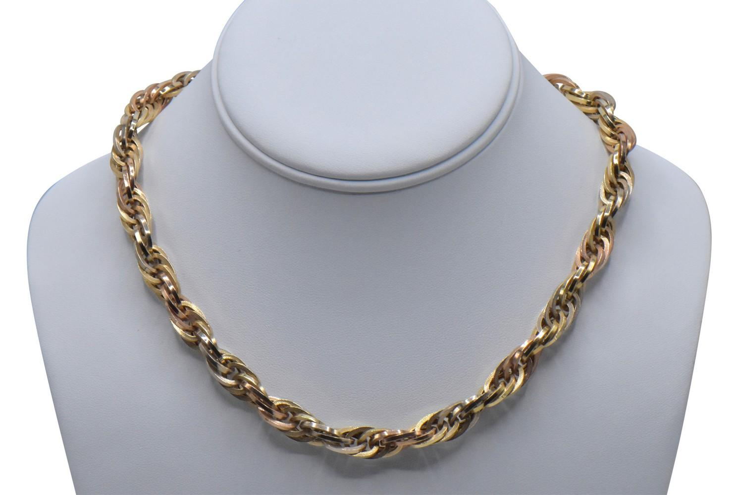 14K Yellow & Rose Gold Chain Necklace