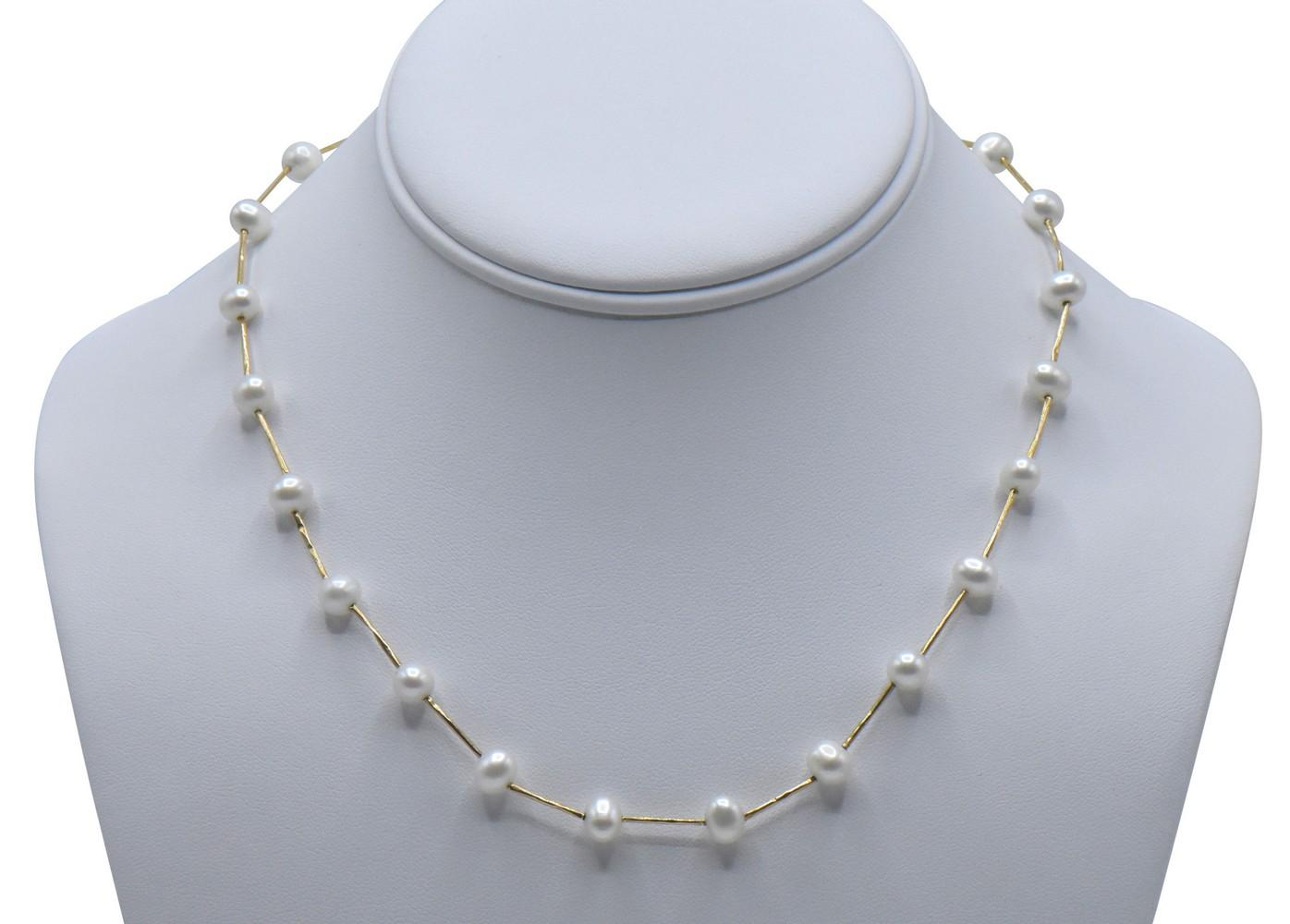 14K Yellow Gold & Pearl Necklace
