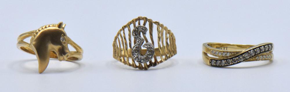 Eleven 14K Gold & Gemstone Rings