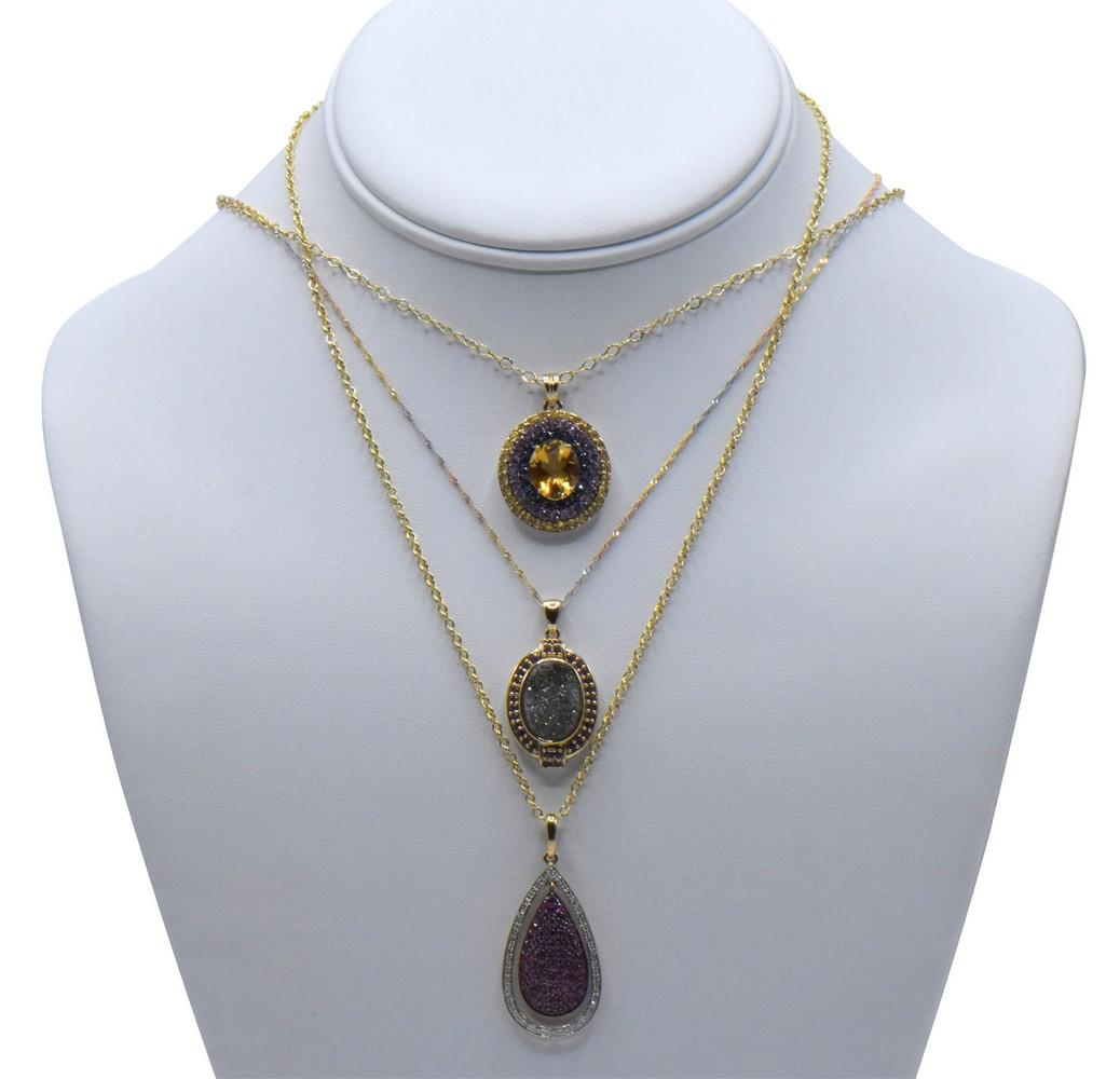 Three 10K Gold Necklaces