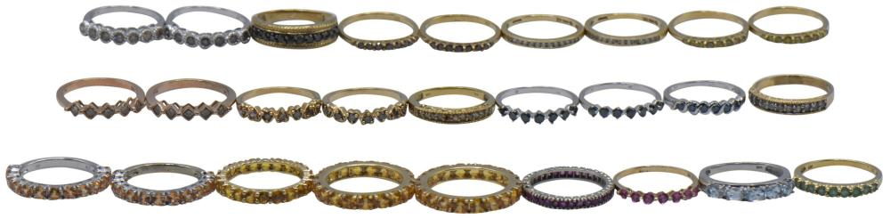 Twenty-Seven 10K Gold Ring Bands