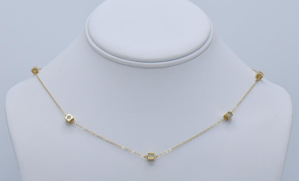 Five Yellow Gold Necklaces