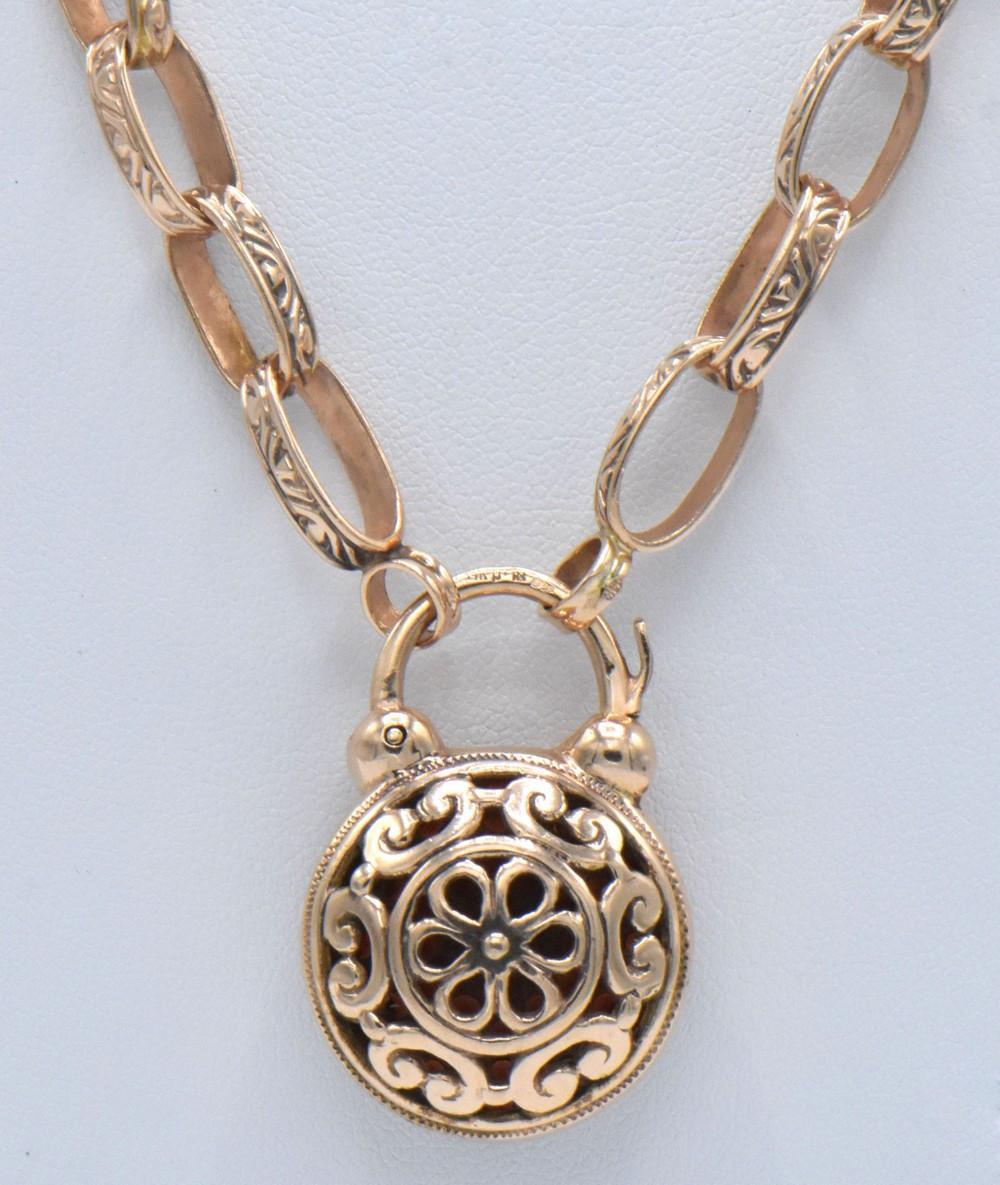 14K Rose Gold & Garnet Necklace