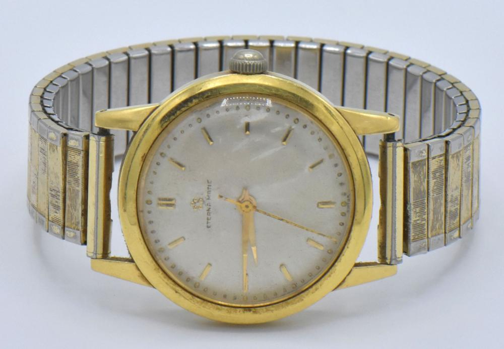 18K Gold Rolex Watch & 14K Gold Eterna Matic Watch