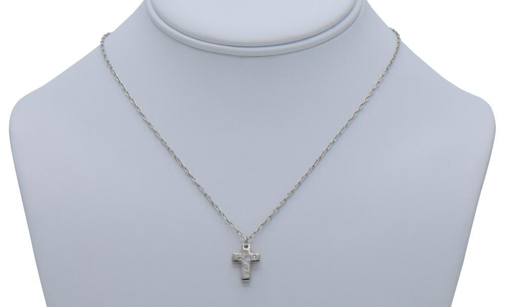 18K White Gold & Diamond Tiffany Necklace