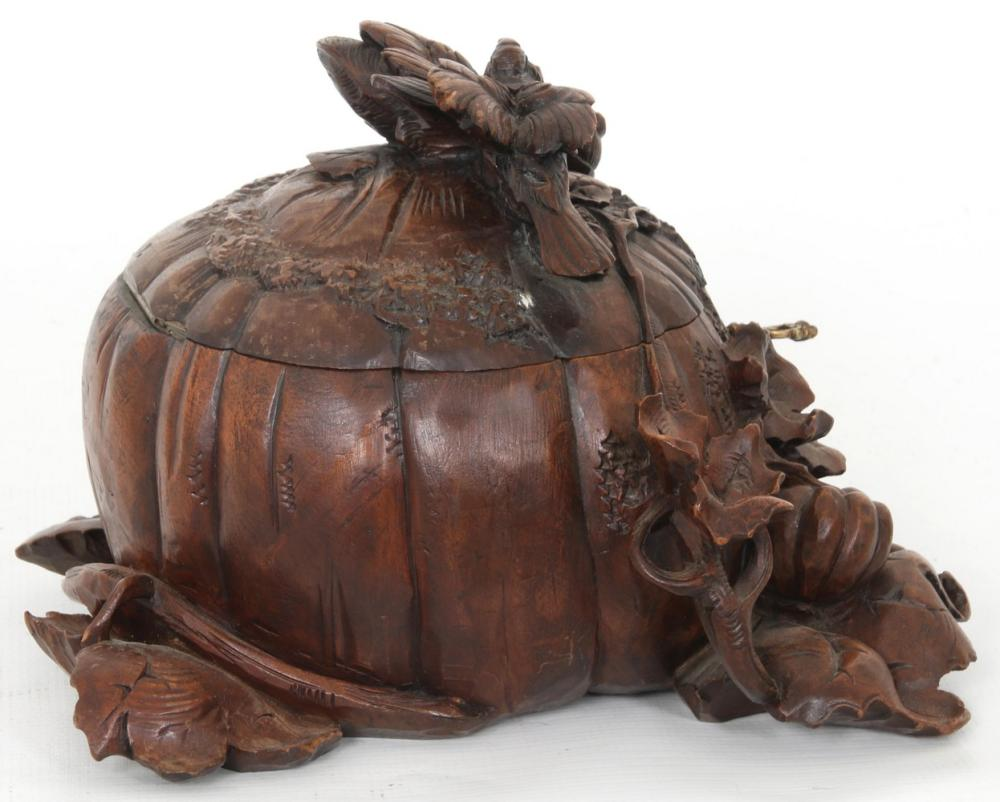 French Carved Pumpkin Jewelry Box