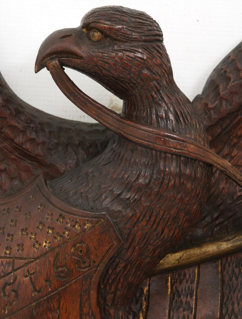 Wooden Eagle Wall Plaque