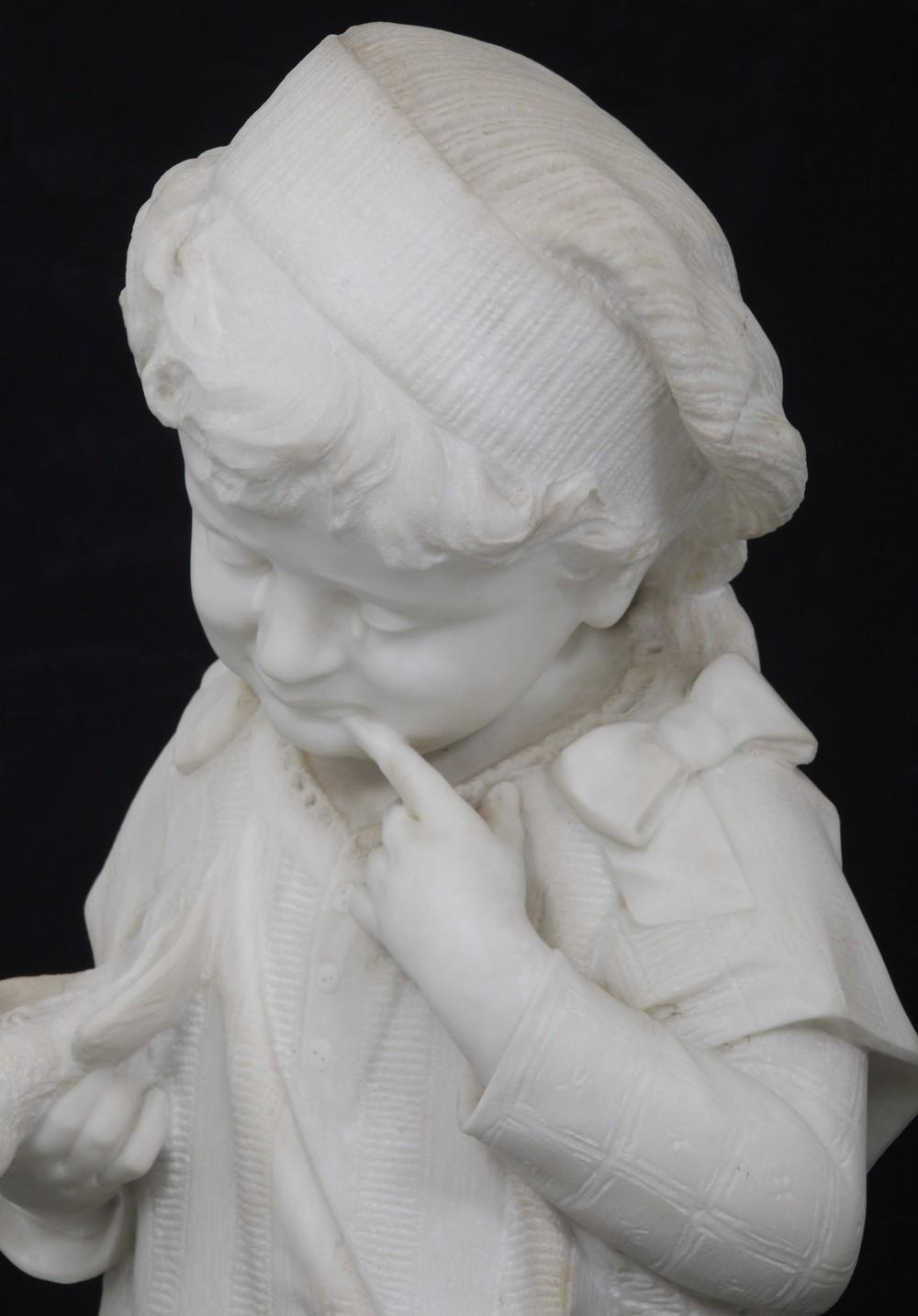 Italian Marble Sculpture of a Crying Child