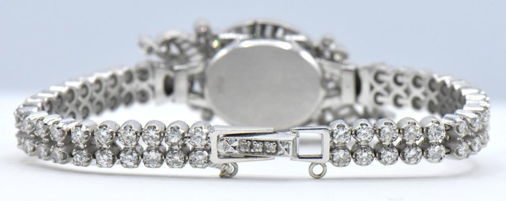 14K White Gold & Diamond Surprise Watch