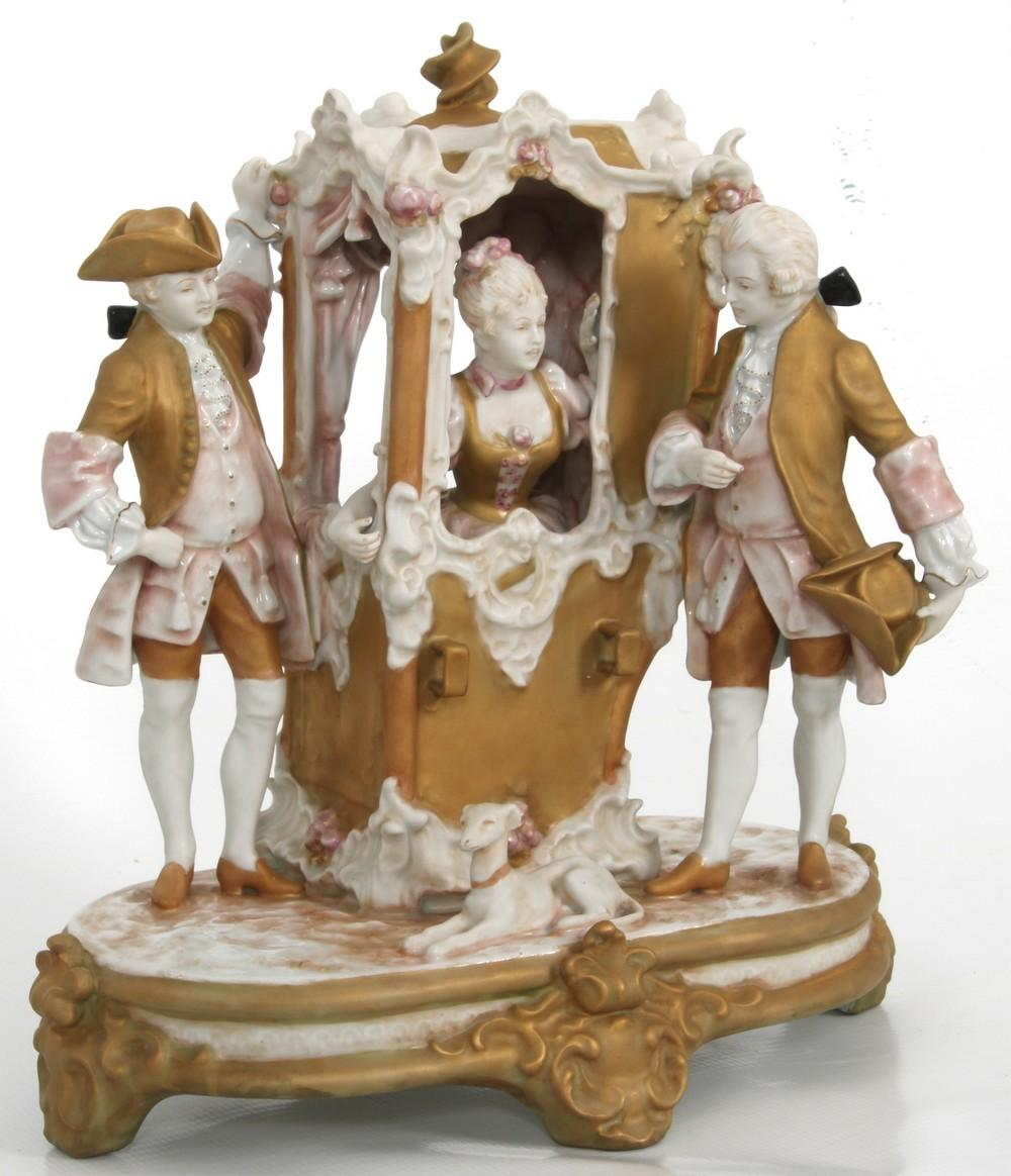 Royal Dux Porcelain Grouping