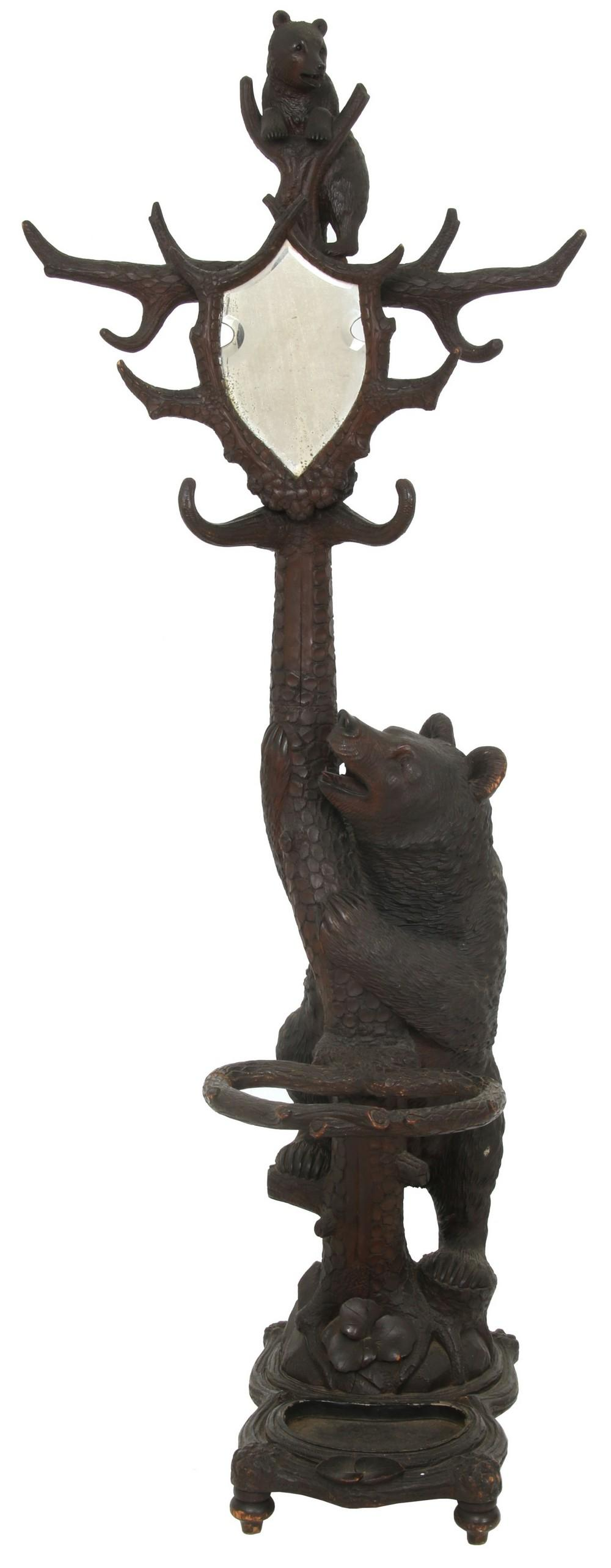 Black Forest Carved Bear Hall Tree