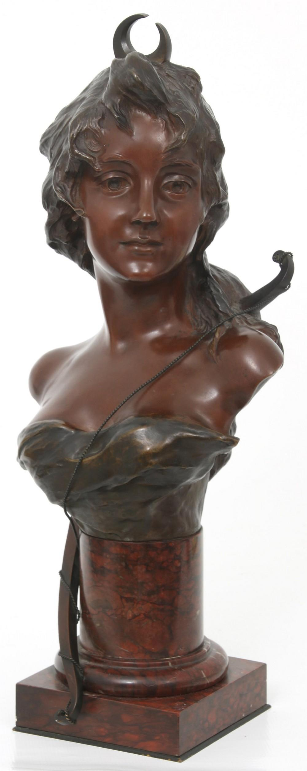 French Art Nouveau Bronze Sculpture