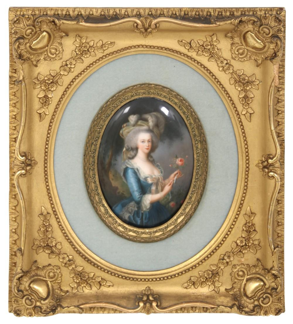 K.P.M. Plaque of Marie Antoinette