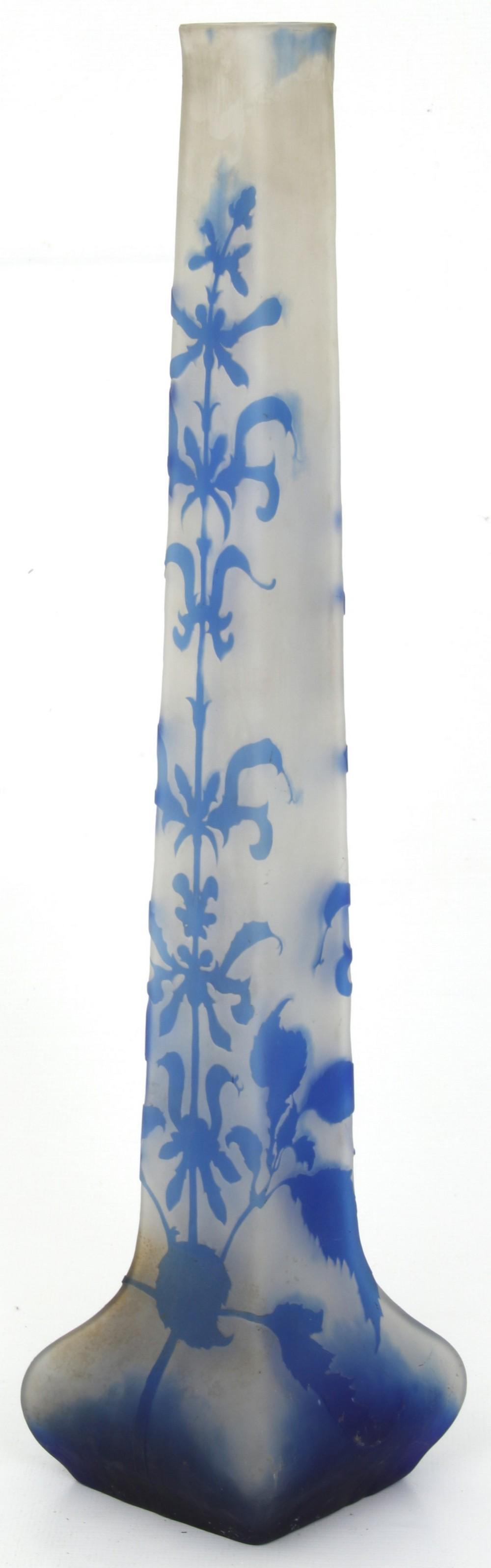Monumental Émile Gallé Cameo Glass Vase