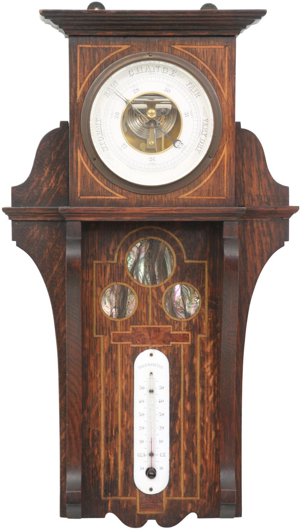 Arts & Crafts Inlaid Barometer