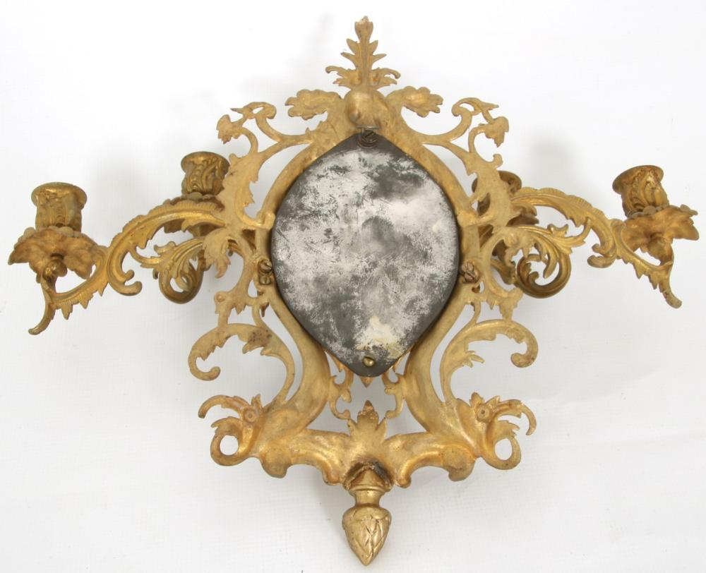 Pair of Rococo Style Gilt Bronze Wall Sconces