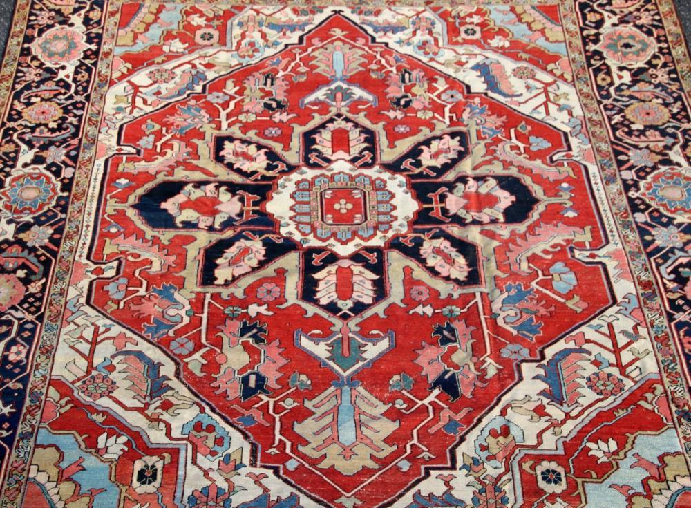 Hand Woven Heriz Rug (12.25 ft. x 10 ft.)