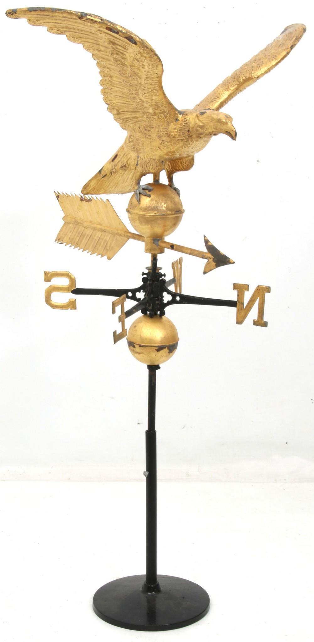 19th Century Gilt Eagle Weathervane