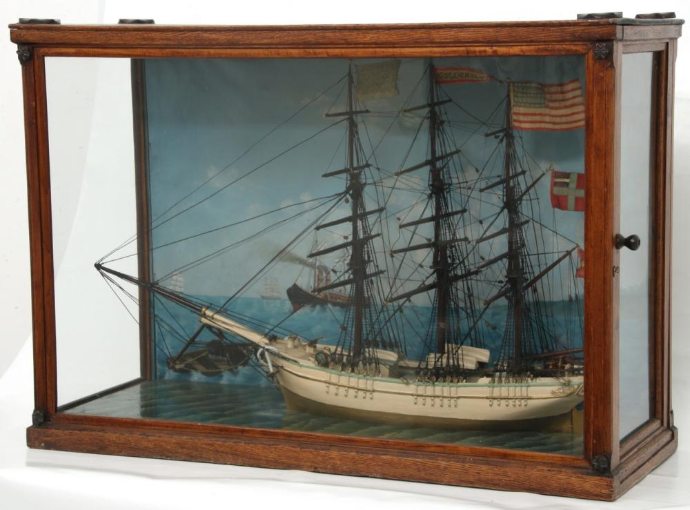 19th Century Wooden Model of a Clipper Ship