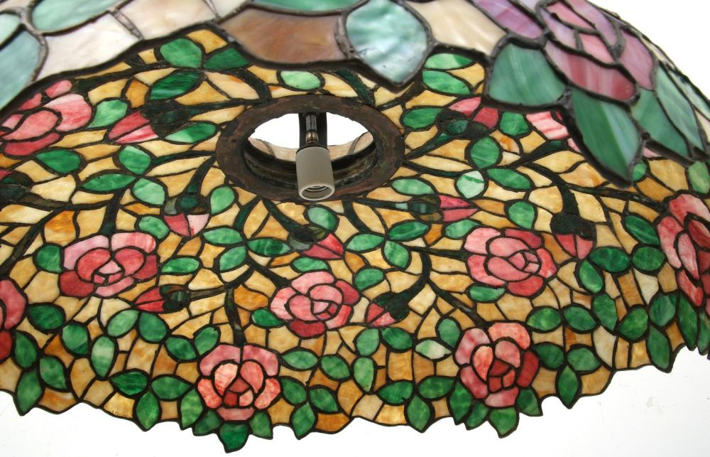 Leaded Glass Floral Chandelier