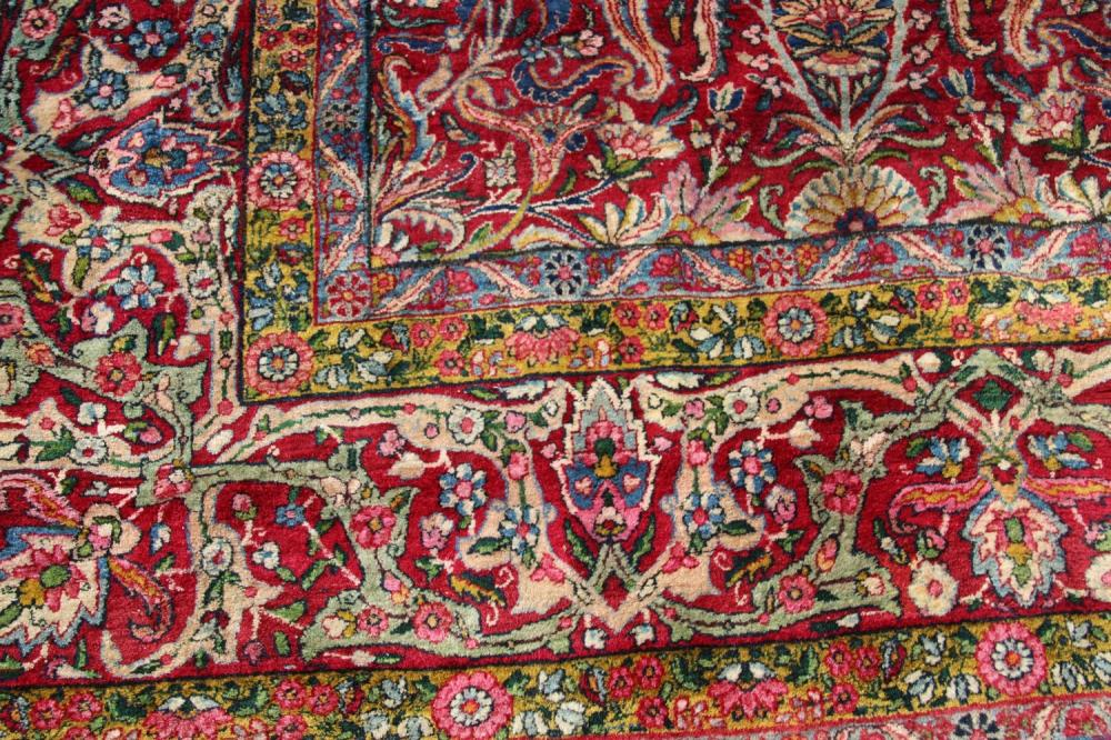 Persian Kerman Room Size Oriental Carpet