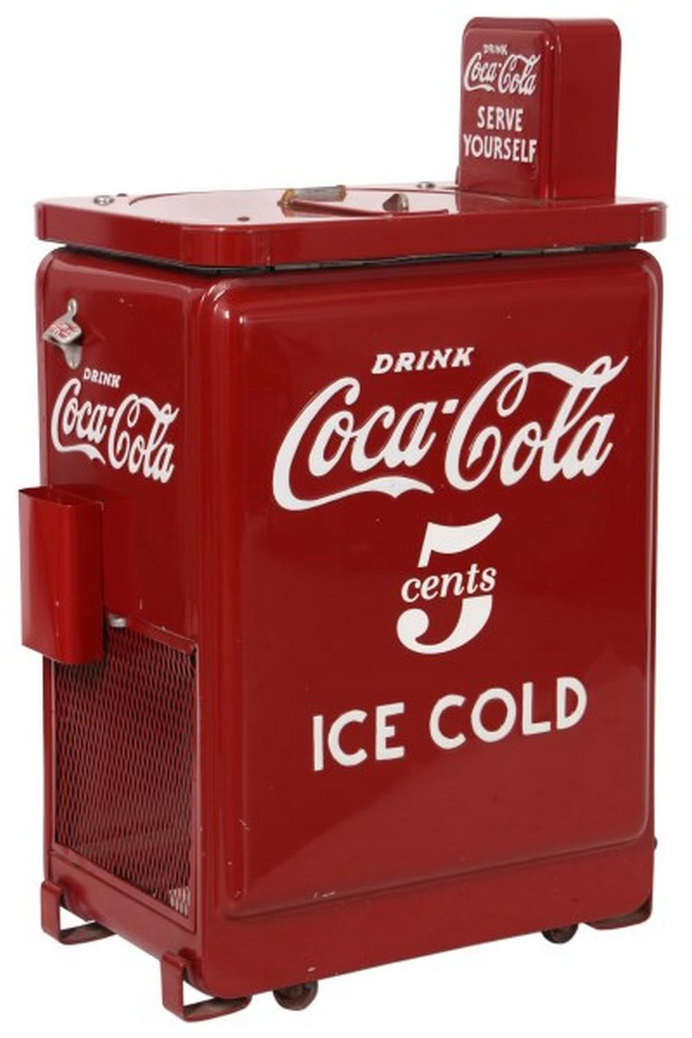 Coca-Cola 5 Cent Spin Top Cooler