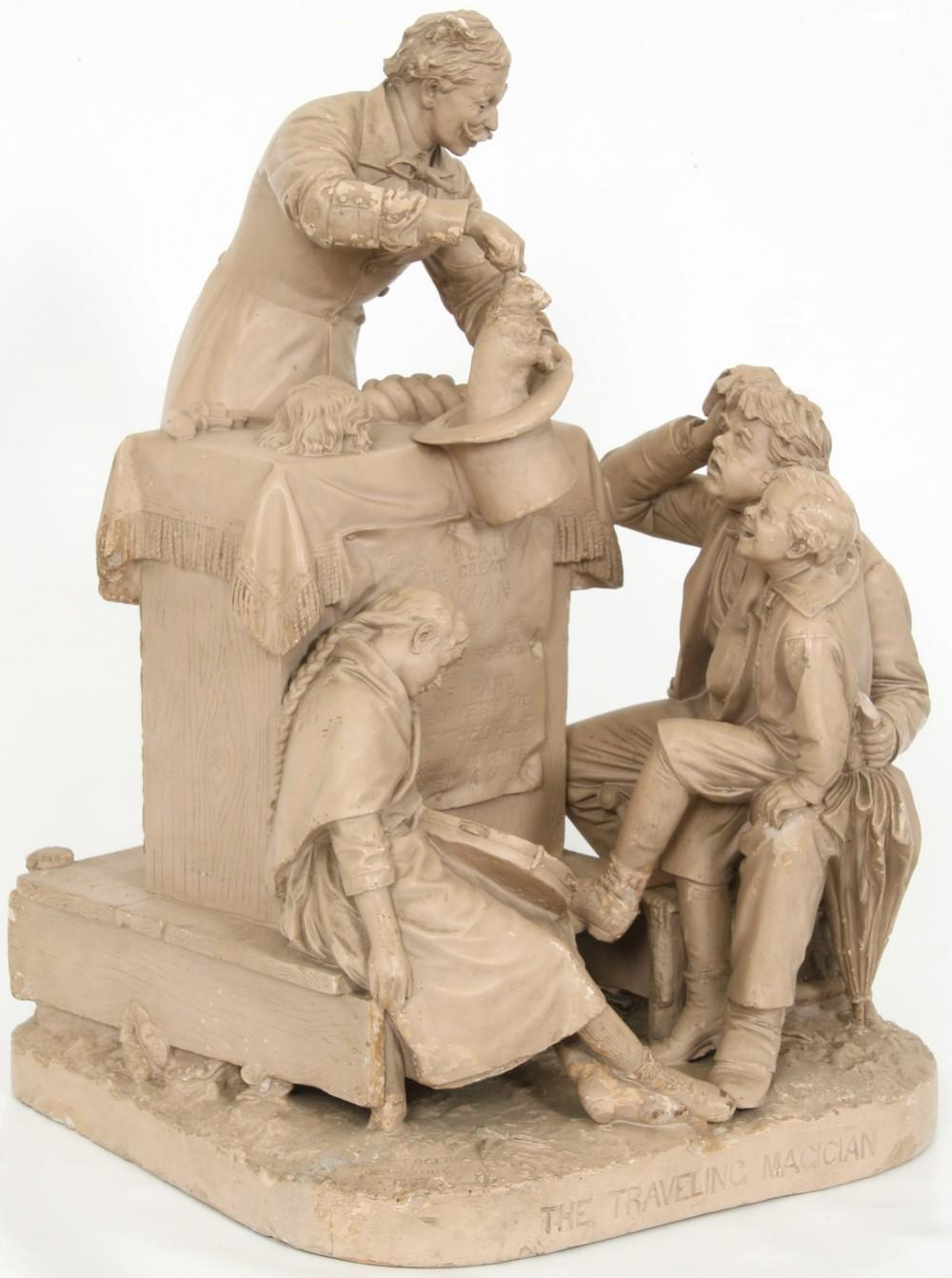"""John Rogers Group, """"The Traveling Magician"""""""