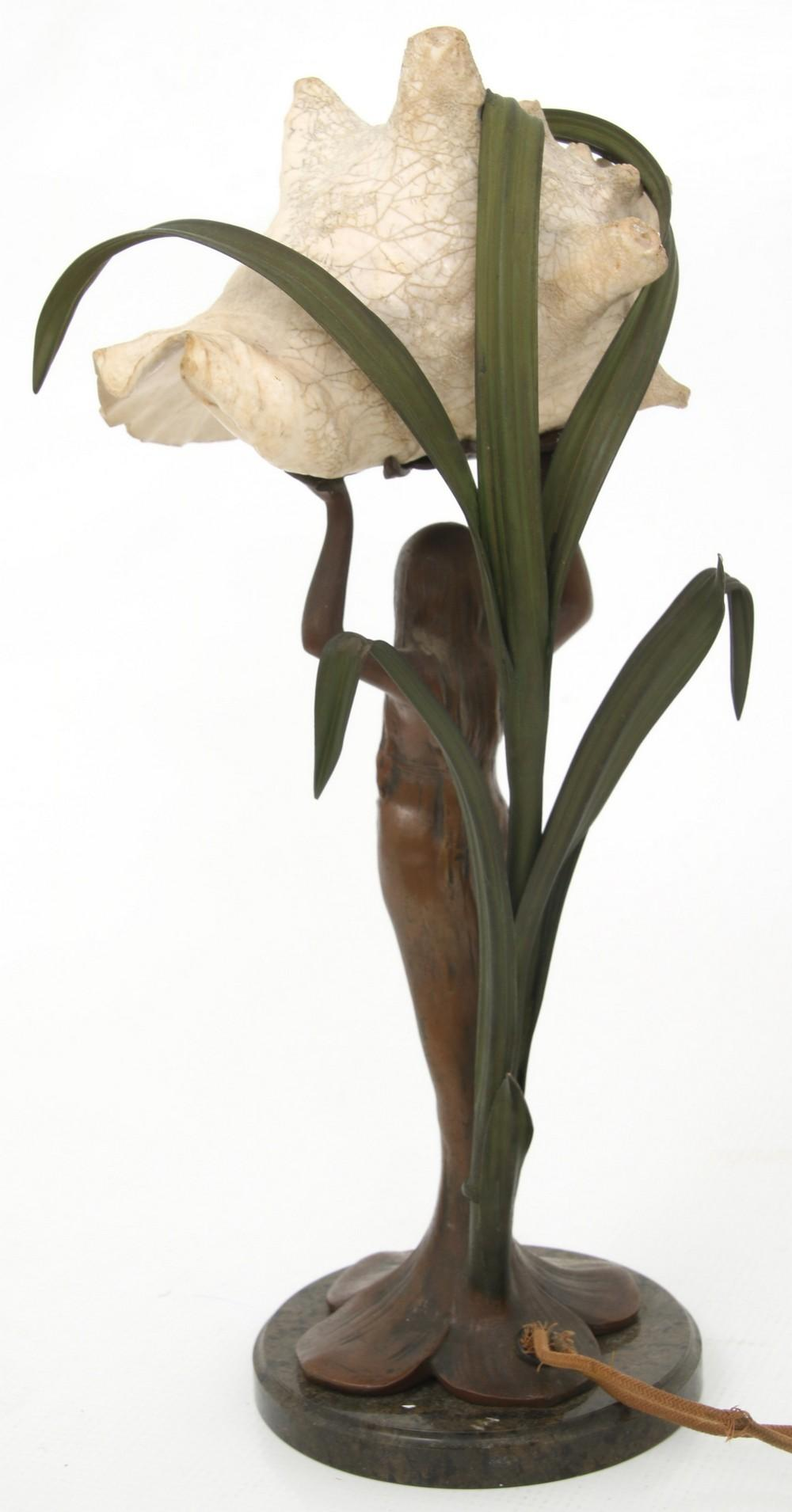 Art Nouveau Lamp with Shell