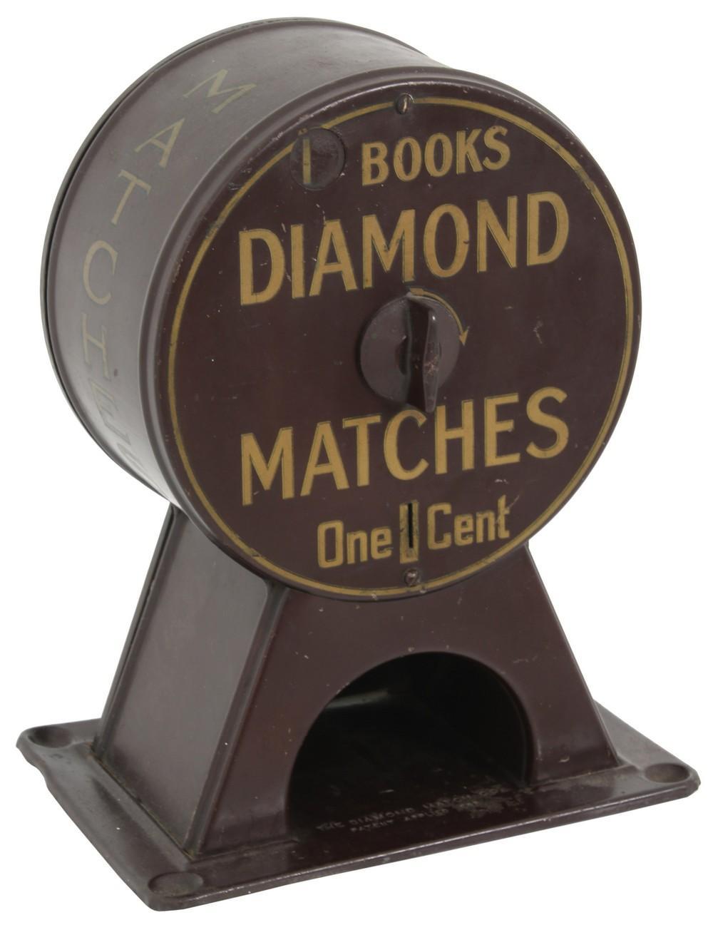 The Diamond Match Co. 1 Cent Match Dispenser