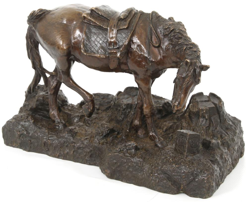 Attributed Russian Bronze Sculpture of a Horse