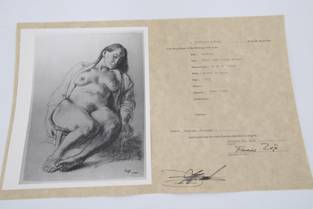 Francisco Zuniga (1912-1998), Pastel on Paper