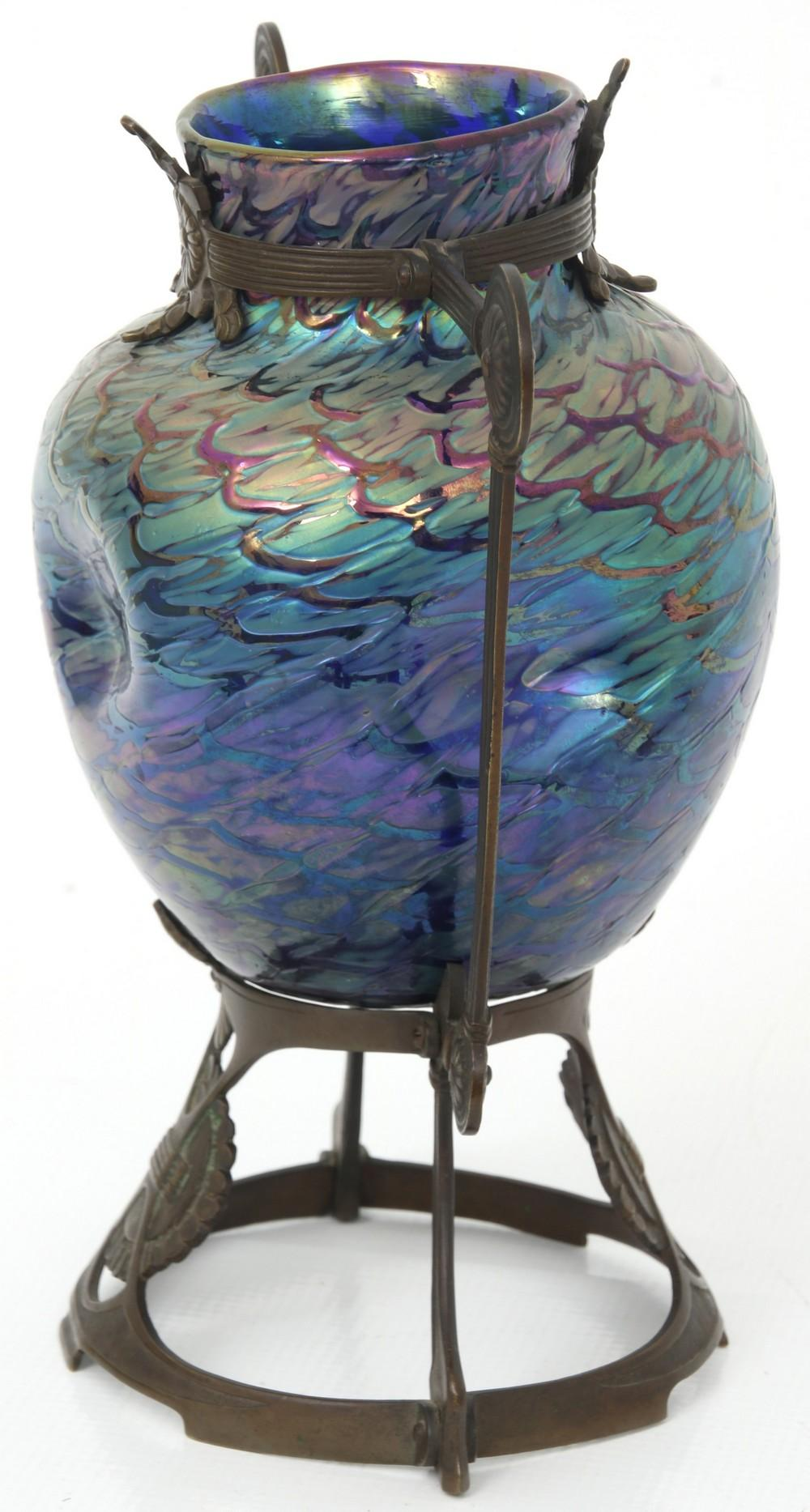 Wilhelm Kralik Sohn Mounted Vase