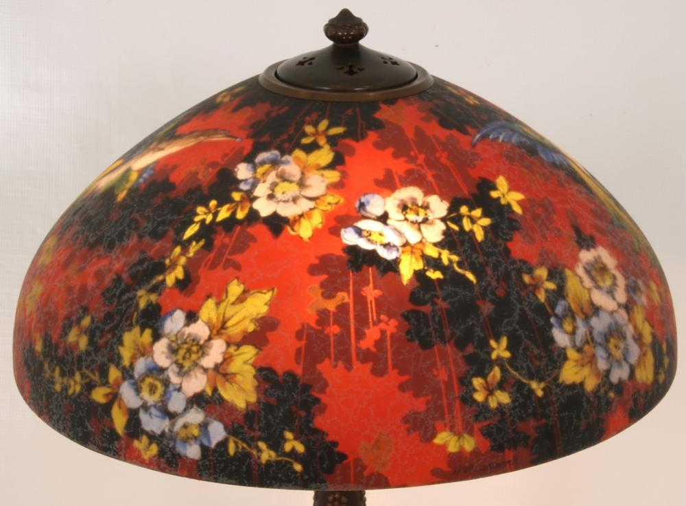 "Handel ""Oriental Pheasant"" Table Lamp"