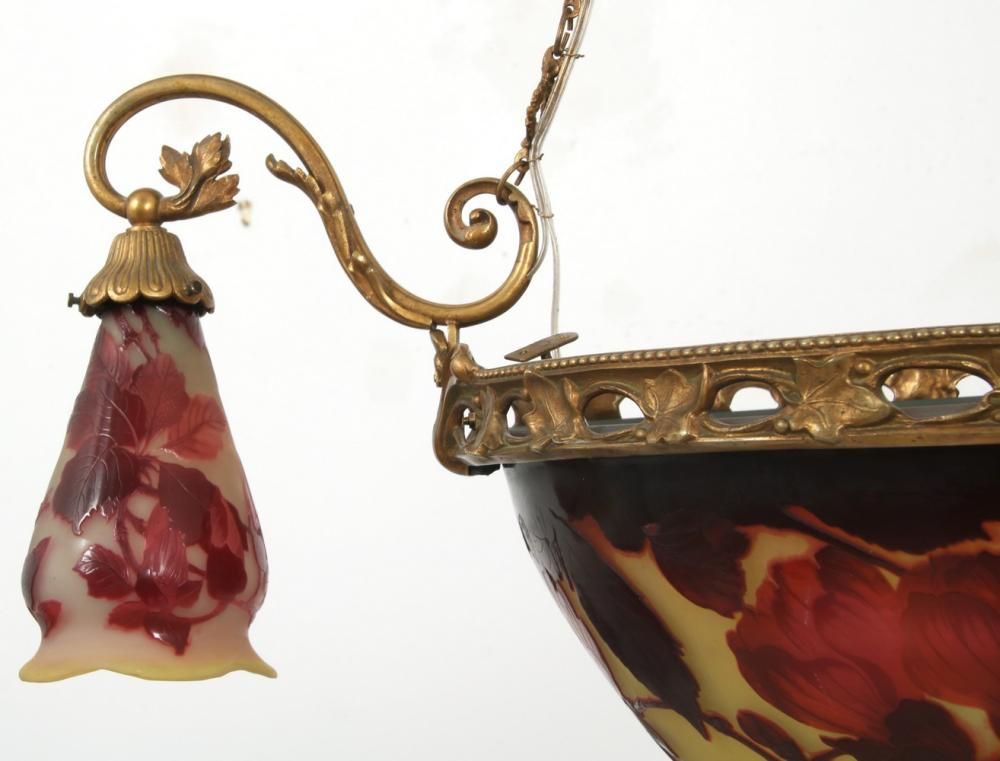 Émile Gallé Cameo Glass Chandelier