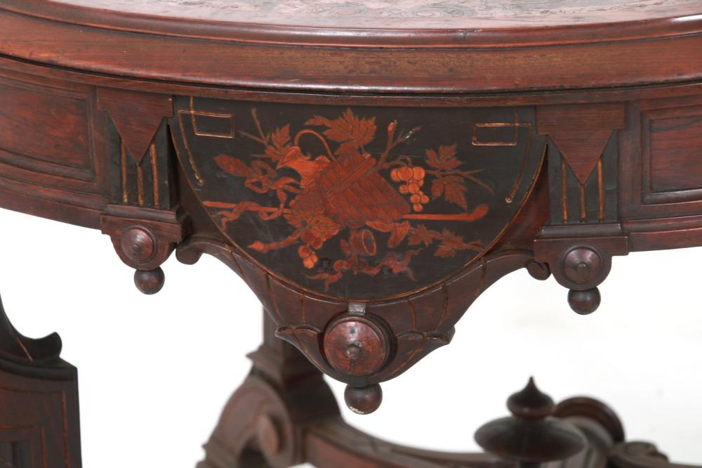 Renaissance Revival Rosewood Center Table