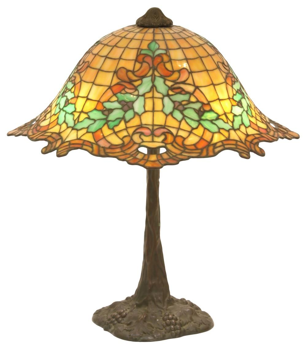 Gorham Leaded Glass Table Lamp
