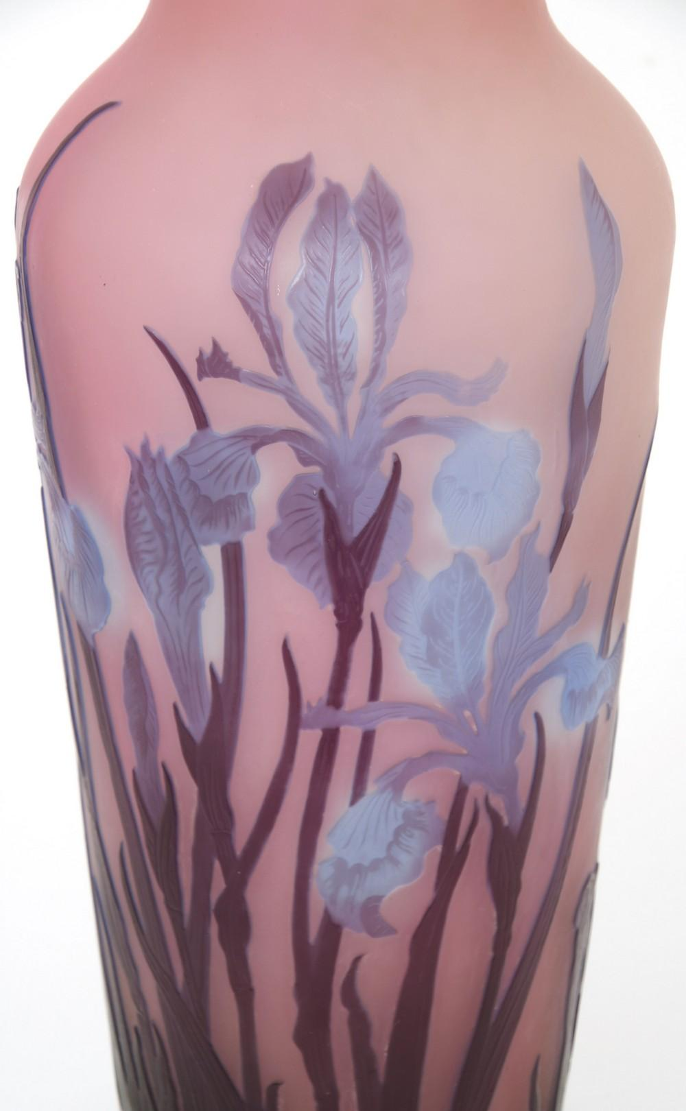 "Émile Gallé ""Iris"" Vase"