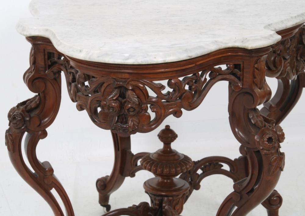 J. & J.W. Meeks Rosewood Center Table