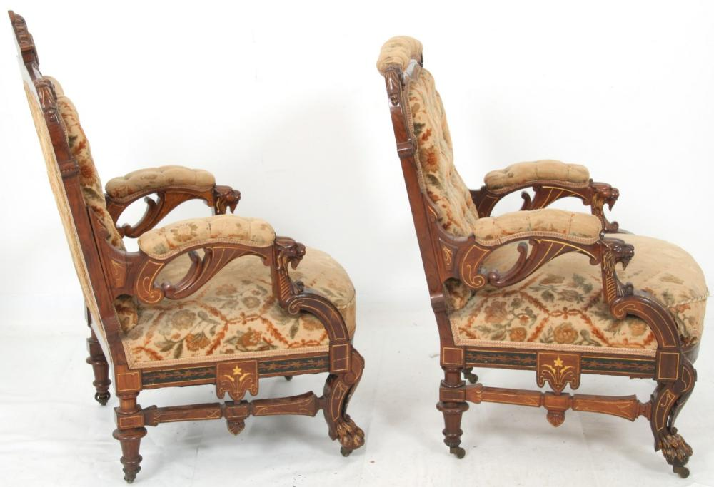 Attr. Herter Brothers Armchairs